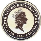 2 доллара 2006, серебро (Ag 925) | Паккард — Острова Кука, фото 1