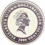 2 доллара 2006, серебро (Ag 925) | Пастернак — Острова Кука, фото 1