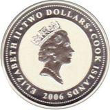 2 доллара 2006, серебро (Ag 925) | Цветаева — Острова Кука, фото 1