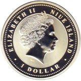 1 доллар 2007, серебро (Ag 925) | Свинья на успех — Ниуэ, фото 1