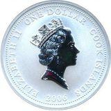 1 доллар 2006, серебро (Ag 925) | Пожарная машина LF 15 — Острова Кука, фото 1