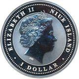 1 доллар 2008, серебро (Ag 925) | Крыса Лу — Ниуэ, фото 1