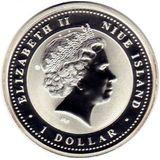 1 доллар 2008, серебро (Ag 925) | Крыса на удачу — Ниуэ, фото 1