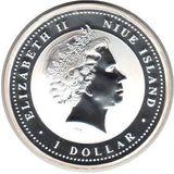 1 доллар 2008, серебро (Ag 925) | Крыса на успех — Ниуэ, фото 1