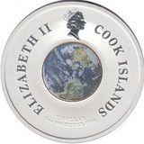 1 доллар 2009, серебро (Ag 925) | Выход в космос — Острова Кука, фото 1