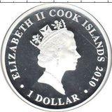 1 доллар 2010, серебро (Ag 925) | Саламинское сражение — Острова Кука, фото 1