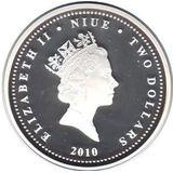 2 доллара 2010, серебро (Ag 925) | Автобус — Ниуэ, фото 1