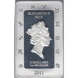 2 доллара 2011, серебро (Ag 925) | Козерог-фэнтези — Ниуэ, фото 1