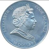 10 долларов 2008, серебро (Ag 925)   Меркурий — Острова Кука, фото 1