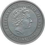 1 доллар 2007, серебро (Ag 925) | Три поросенка — Ниуэ, фото 1