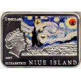 1 доллар 2007, серебро (Ag 925) | Ван Гог — Ниуэ, фото 1