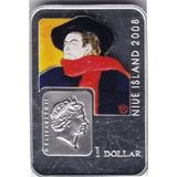 1 доллар 2008, серебро (Ag 925) | Тулуз Лотрек — Острова Кука, фото 1