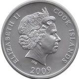 10 долларов 2009, серебро (Ag 925)   Медный всадник — Острова Кука, фото 1