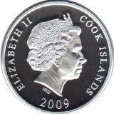 10 долларов 2009, серебро (Ag 925)   Медный всадник (proof) — Острова Кука, фото 1