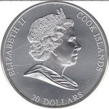 20 долларов 2008, серебро (Ag 925)   Тайная Вечеря — Острова Кука, фото 1