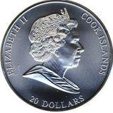 20 долларов 2008, серебро (Ag 925)   Рождение Венеры — Острова Кука, фото 1