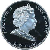 20 долларов 2009, серебро (Ag 925) | Ночной дозор — Острова Кука, фото 1