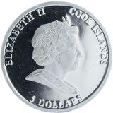 5 долларов 2011, серебро (Ag 925) | Два зайца — Острова Кука, фото 1