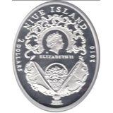 2 доллара 2010, серебро (Ag 925) | Яйцо Клевер — Ниуэ, фото 1