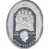 50 долларов 2011, серебро (Ag 999) | Царская семья — Ниуэ, фото 1