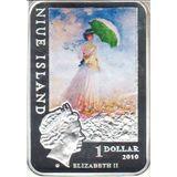 10 долларов 2010, серебро (Ag 925) | Моне — Ниуэ, фото 1