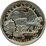 5 долларов 2008, золото (Au 999) | Гданьск — Ниуэ, фото 1