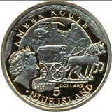 5 долларов 2010, золото (Au 999) | Старе Градиско — Ниуэ, фото 1