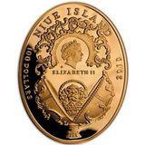 100 долларов 2010, золото (Au 999) | Яйцо коронационное — Ниуэ, фото 1