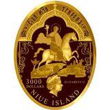 3000 долларов 2011, золото (Au 999) | Царская охота — Ниуэ, фото 1