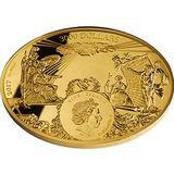 3000 долларов 2017, золото (Au 999) | Яхта четырех императоров — Ниуэ, фото 1