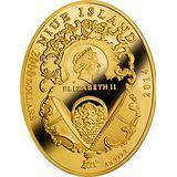 2000 долларов 2014, золото (Au 999) | Яйцо Московский Кремль — Ниуэ, фото 1