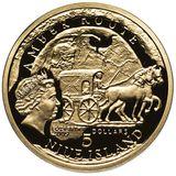 5 долларов 2009, золото (Au 999) | Вроцлав — Ниуэ, фото 1