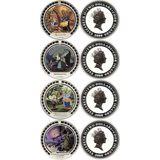 Набор монет Мультфильмы (8 долларов) — Острова Кука, 2008, фото 1