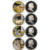 Набор монет Зайцы (8 долларов) — Острова Кука, 2011, фото 1