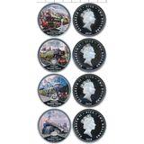 Набор монет Паровозы — Ниуэ, 2010, фото 1