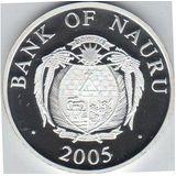 10 долларов 2005, серебро (Ag 925) | Тауэрский мост — Науру, фото 1