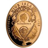 100 долларов 2011, золото (Au 999) | Яйцо Клевер — Ниуэ, фото 1