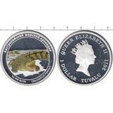 1 доллар 2011, серебро (Ag 999) | Крокодил  — Тувалу, фото 1