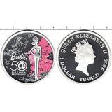 1 доллар 2009, серебро (Ag 999) | Барби  — Тувалу, фото 1