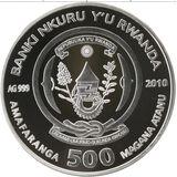 500 франков 2010, серебро (Ag 925) | Рифовая акула — Руанда, фото 1