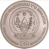 50 франков 2008, серебро (Ag 925) | Африканские гориллы — Руанда, фото 1