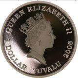 1 доллар 2006, серебро (Ag 999) | Корвет  — Тувалу, фото 1