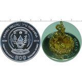 500 франков 2015, серебро (Ag 925) | Год козы 3D — Руанда, фото 1