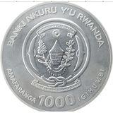 1000 франков 2009, серебро (Ag 925) | Бык — Руанда, фото 1
