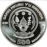 500 франков 2011, серебро (Ag 925) | Русская голубая — Руанда, фото 1