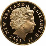 10 долларов 2003, золото (Au 999)   Кольцо — Новая Зеландия, фото 1