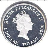 1 доллар 2006, серебро (Ag 999) | Датсан  — Тувалу, фото 1