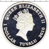 1 доллар 2010, серебро (Ag 999) | Викинг  — Тувалу, фото 1