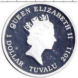 1 доллар 2011, серебро (Ag 999) | Лабрадор  — Тувалу, фото 1