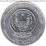 1000 франков 2008, серебро (Ag 925) | Горилла — Руанда, фото 1